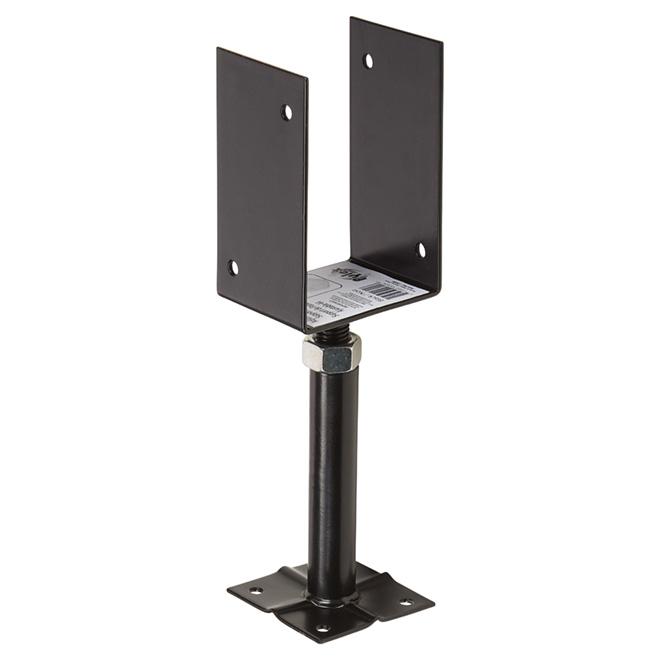 Support ajustable pour patio, 10'', acier, Pylex, noir