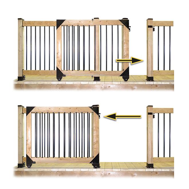 Pylex Sliding Gate Hardware Kit Black 11052 R 233 No D 233 P 244 T
