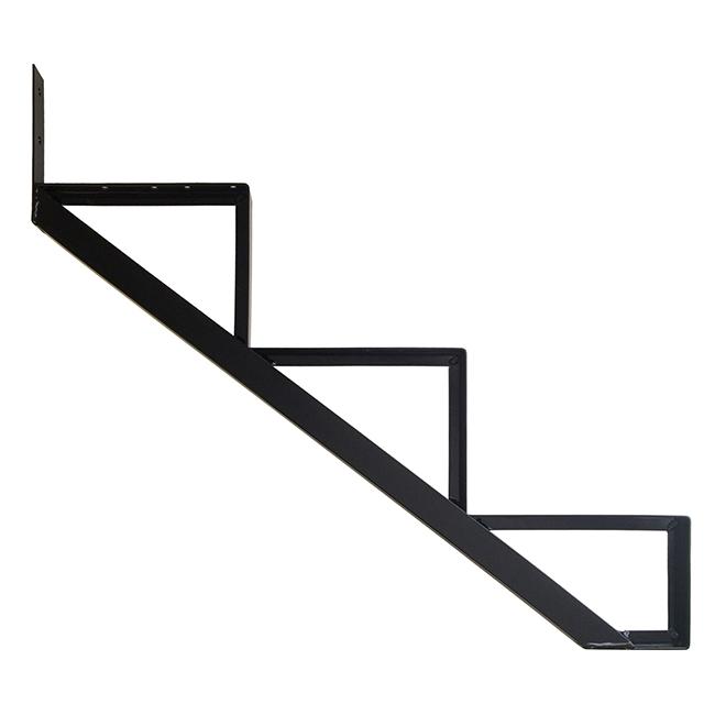 """Aluminum Stair Riser - 3 Steps - 7.5"""" x 10.25"""" - Black"""