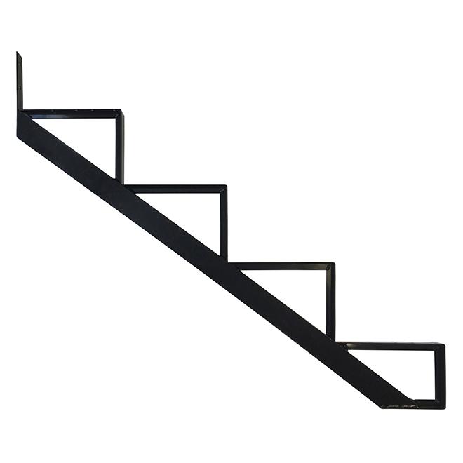 """Aluminum Stair Riser - 4 Steps - 7.5"""" x 10.25"""" - Black"""