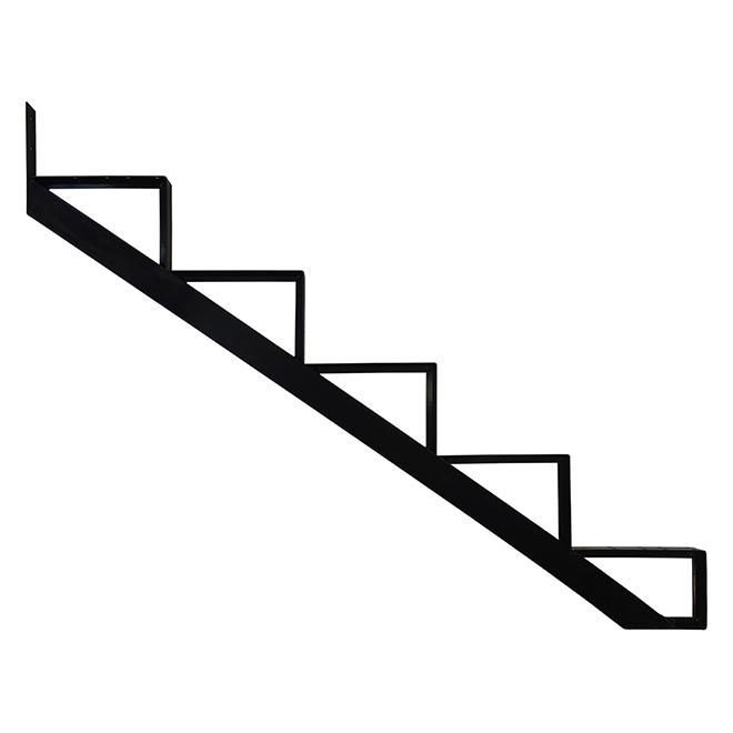"""Aluminum Stair Riser - 5 Steps - 7.5"""" x 10.25"""" - Black"""