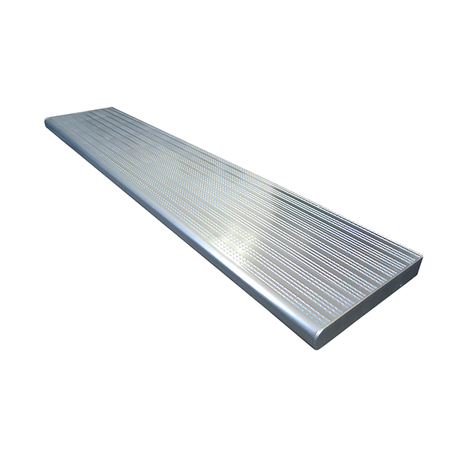 "Aluminum Stair Treads - 11"" x 36"" - Silver"