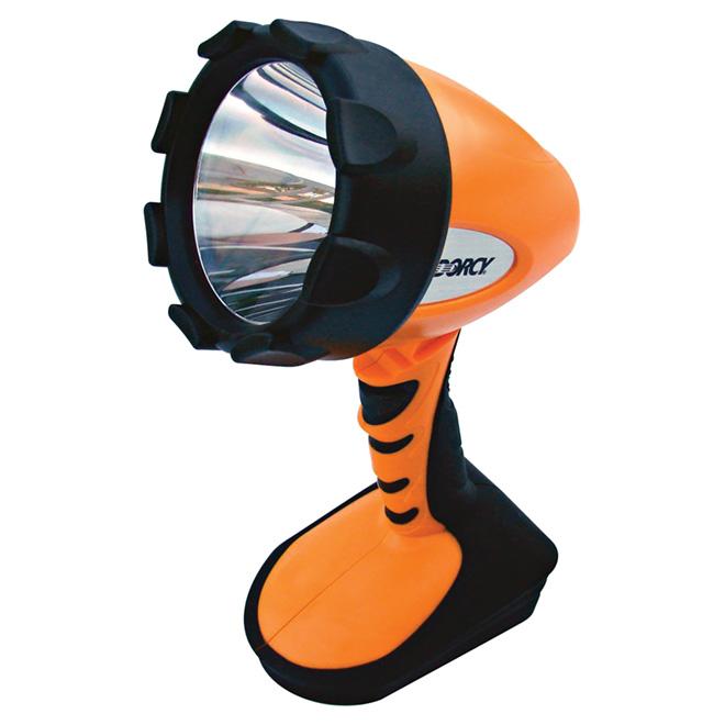 Lampe projecteur DEL, tête pivotante, orange