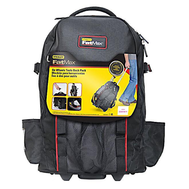 Sac à dos pour outils avec roulettes, noir