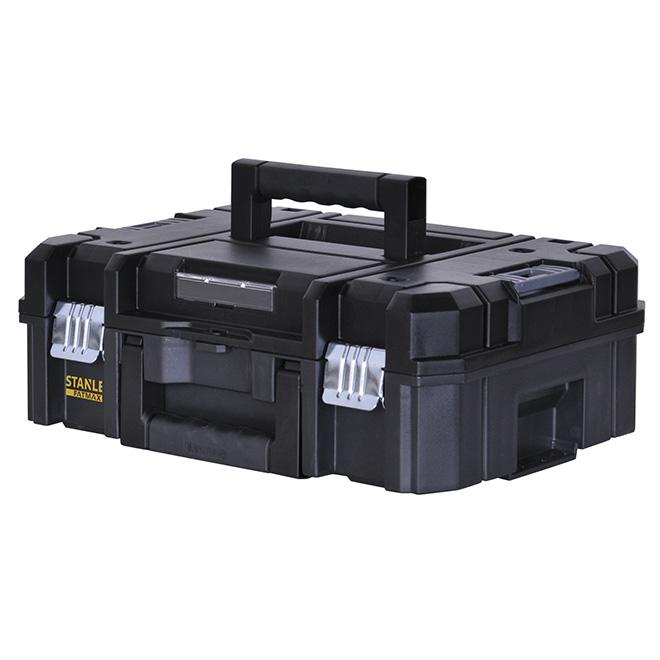 Coffre à outils 18 po, plastique noir