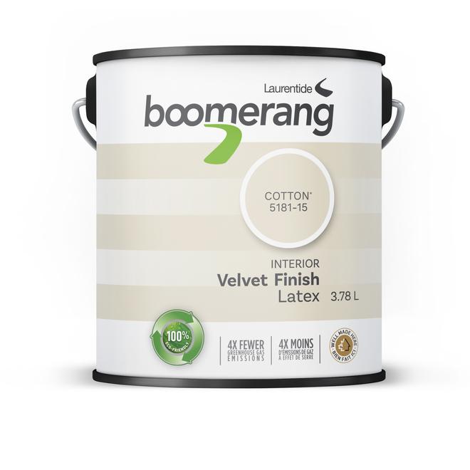 Boomerang Recycled Interior Paint - Latex - 3.78 L - Velvet Finish - Cotton