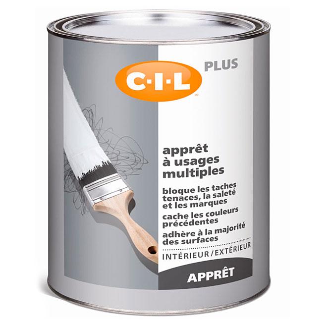 Apprêt intérieur/extérieur 3 en 1 C-I-L(MD), 946 ml, blanc