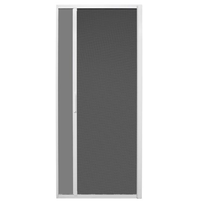 Porte moustiquaire coulissante rétractable - Blanc