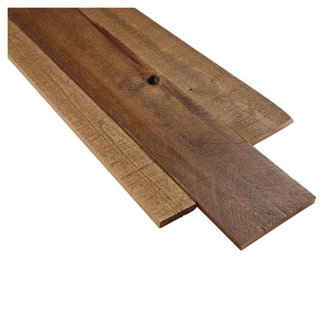 Revêtement mural style bois de grange, brun