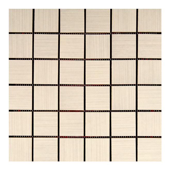 """Mosaïque en porcelaine «Zen», 12"""" x 12"""", blanc, 5/pqt"""