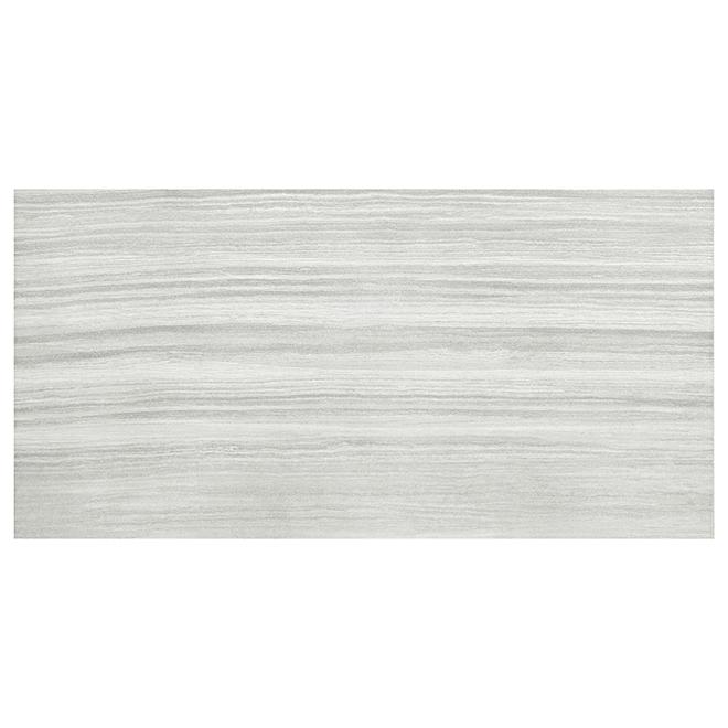 """Tuile de porcelaine, 12"""" x 24"""", 8/boîte, gris pâle"""