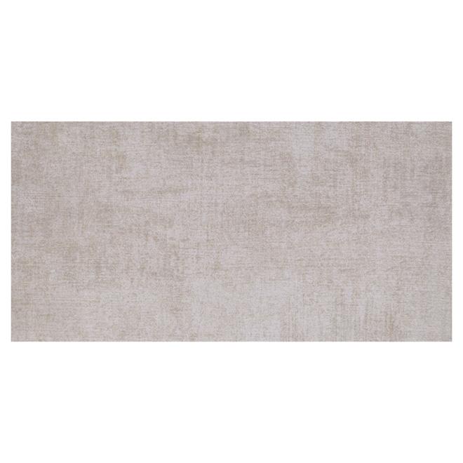 """Tuiles de porcelaine mur et plancher, 12"""" x 24"""", beige/blanc"""