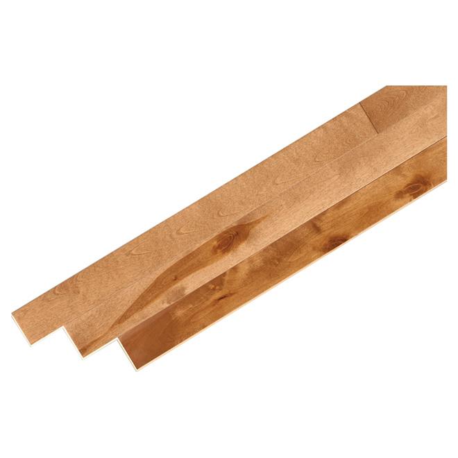 Plancher de bois franc en merisier, 20 pi², caramel