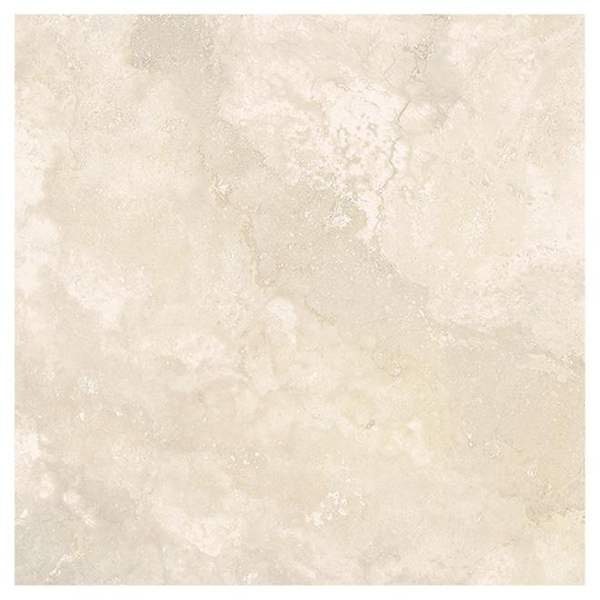 "Ceramic Floor Tile - 13.39"" x 13.39"" - Beige"