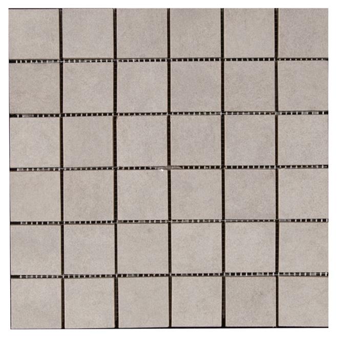 Tuiles de porcelaine « Vega Grigio Mosaic 2x2 », boîte de 5