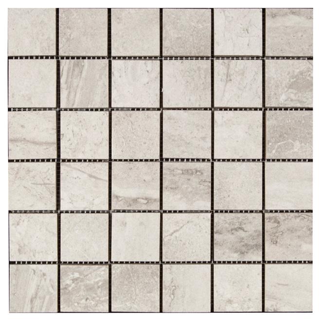 "Pietra Bella Porcelain Mosaic - Grey - 12"" x 12"" - 5/Box"