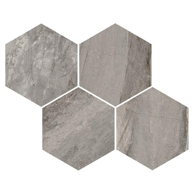Tuiles de porcelaine hexagonales, boîte de 12