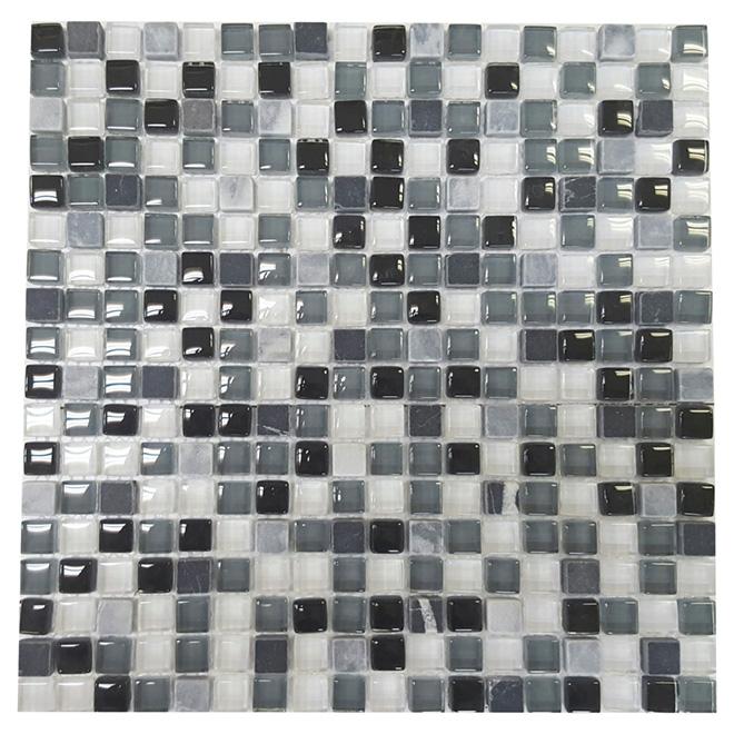 """Roccia"" Mosaic Glass Marble Tile-12"" x 12"" -5 Box"