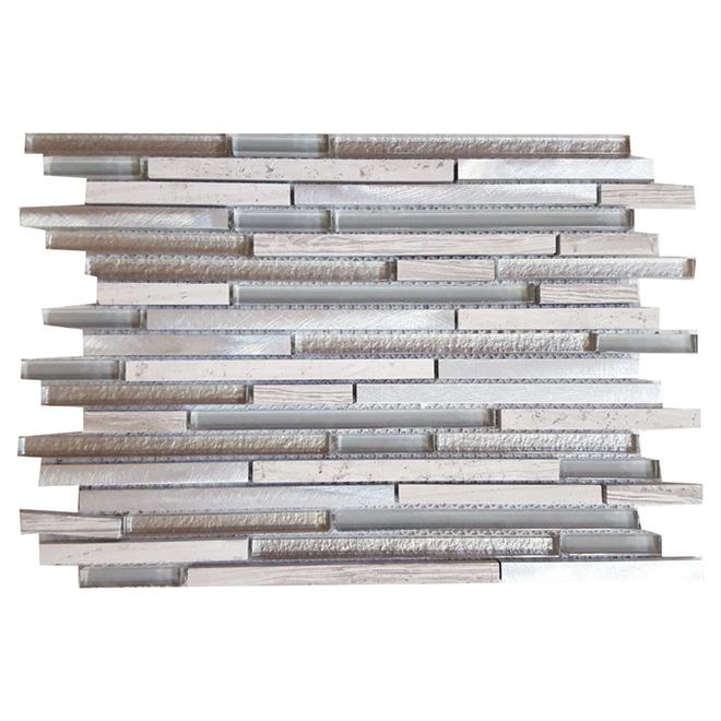 """Tetris"" Mosaic Glass Marble Tile-12"" x 12"" -5 Box"