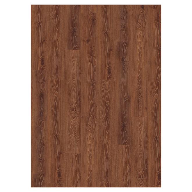 Plancher stratifié 12 mm, chêne brun marron