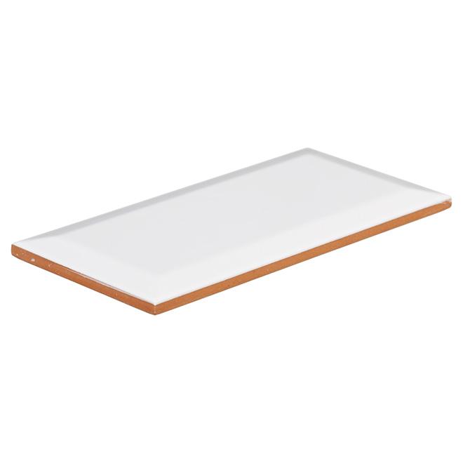 "Ceramic Tile - 4"" x 8"" - Glossy White"