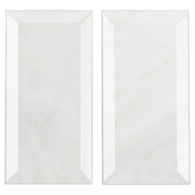 "Ceramic Tile - 4"" x 8"" - Glossy Marble"
