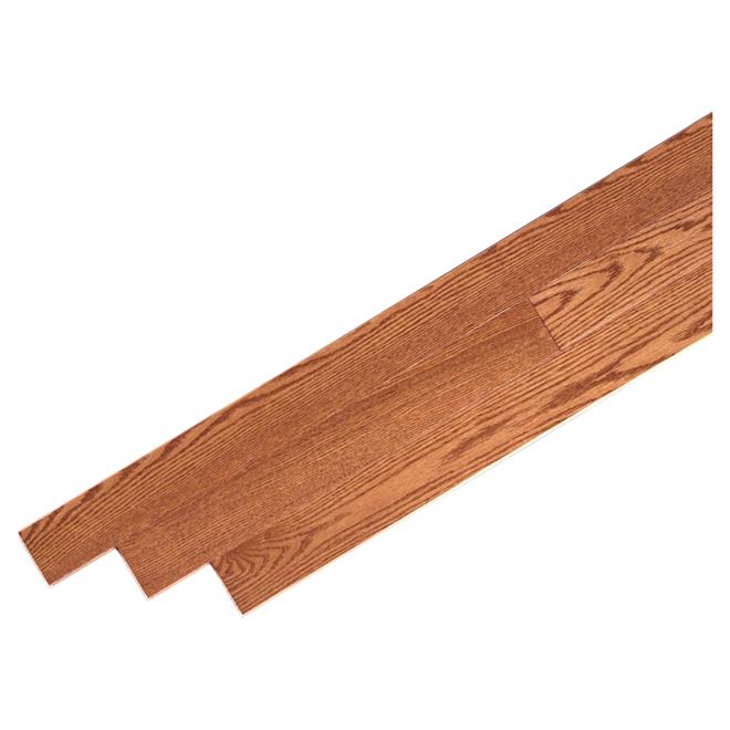 """Red Oak Hardwood Flooring - 3 1/4"""" - Gunstock"""