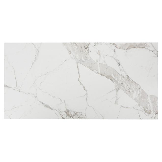 Tuiles de porcelaine, 18'' x 36'', marbre, 3/boîte