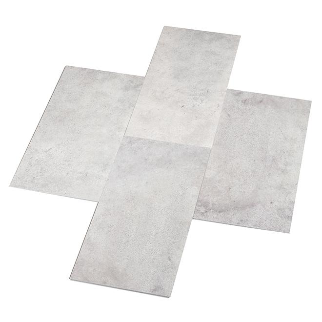Tuile synthétique pour plancher, 25,54 pi², gris, 12/pqt