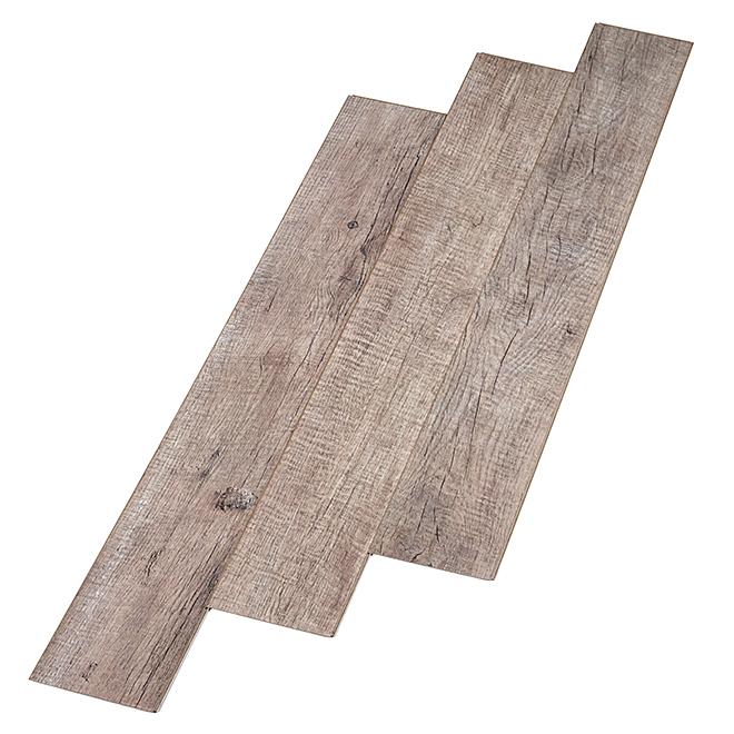 Planches synthétiques pour plancher, 26,43 pi², gris, 11/pqt