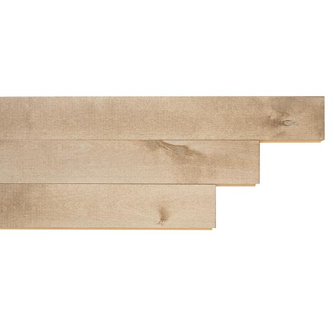 Plancher de bois franc en merisier, Sahara, 3 1/4'', 48/pqt