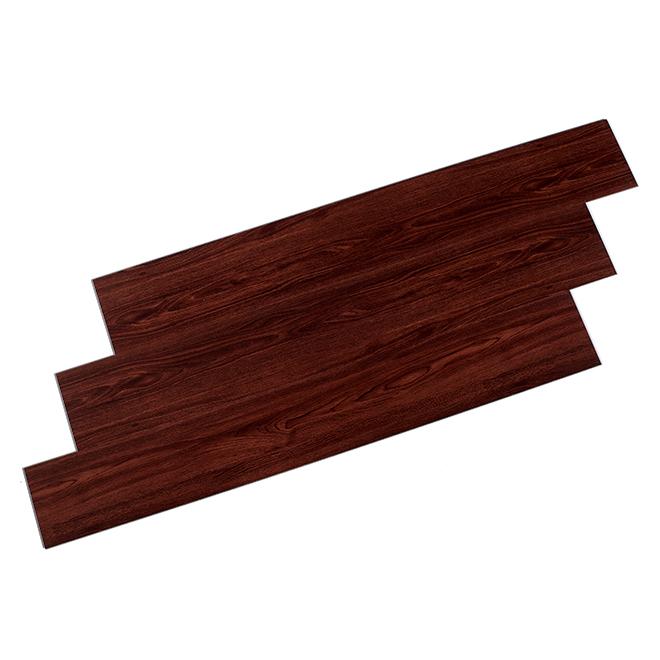 Plancher en vinyle, chocolat, 4,2 mm, 28,38 pi²