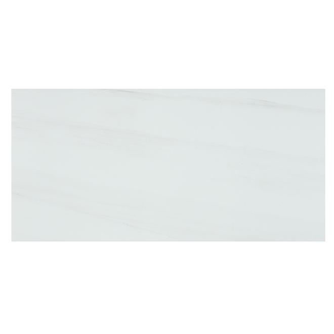 """Tuiles de porcelaine Onice Bianco, 12"""" x 24"""", 6/boîte, blanc"""