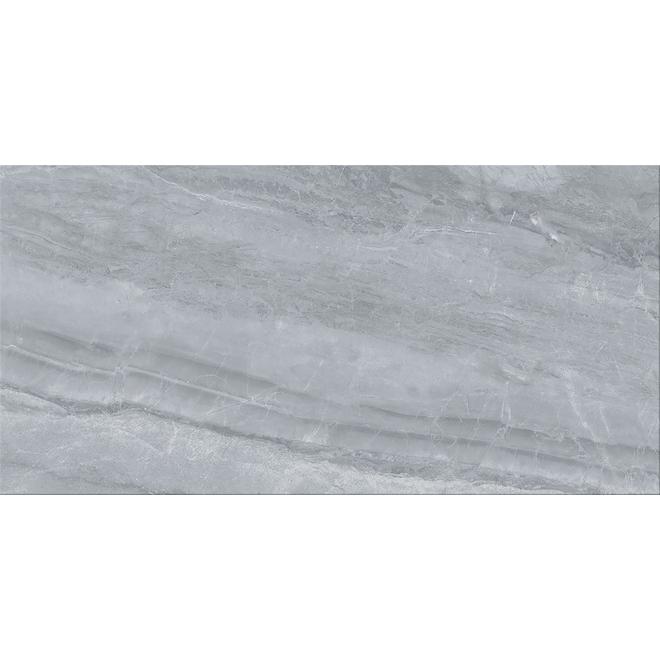 "Orobico Silver Porcelain Tiles - 12"" x 24"" - 6/Box - Grey"