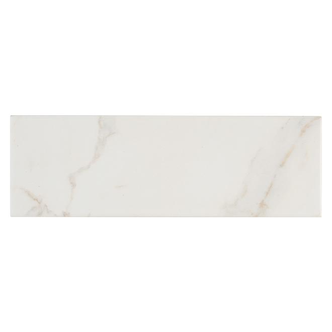 "Porcelain Tiles - 4"" x 12"" - 42/Box - White"