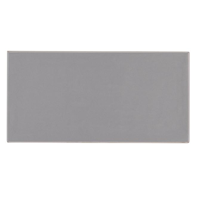 "Ceramic Tiles - 4"" x 8"" - 68/Box - Grey"