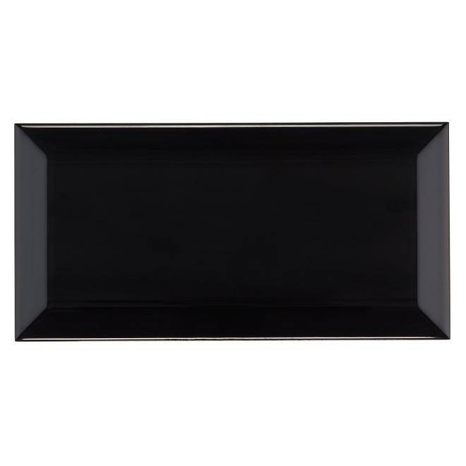 """Ceramic Tiles - 4"""" x 8"""" - 50/Box - Black"""