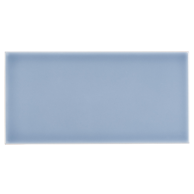 "Ceramic Tiles - 4"" x 8"" - 68/Box - Blue"