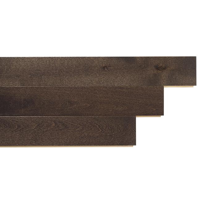 Plancher de bois franc en merisier, 20 pi², Gunmetal