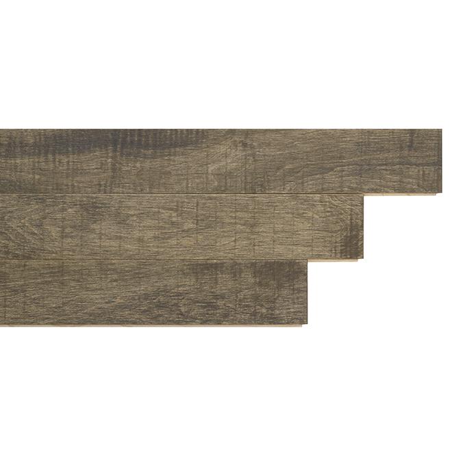 Plancher de bois franc en érable brossé, 20 pi², charbon
