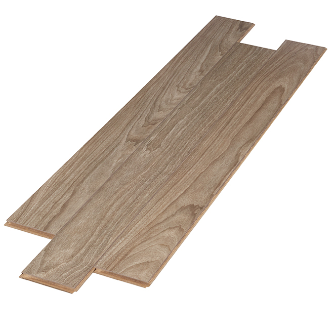 Laminate Flooring - HDF - 12 mm x 13.1 sq. ft - Brown - 8/PK
