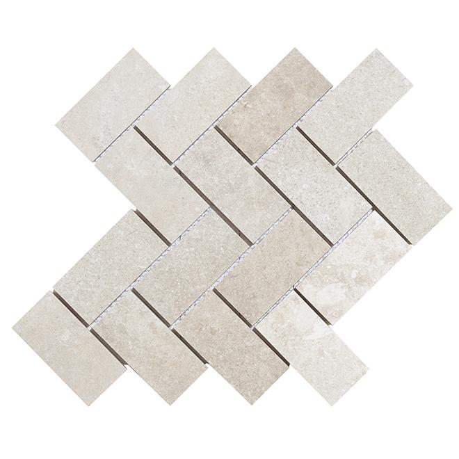Porcelain Mosaic - Arcadia - Grey - Box of 5