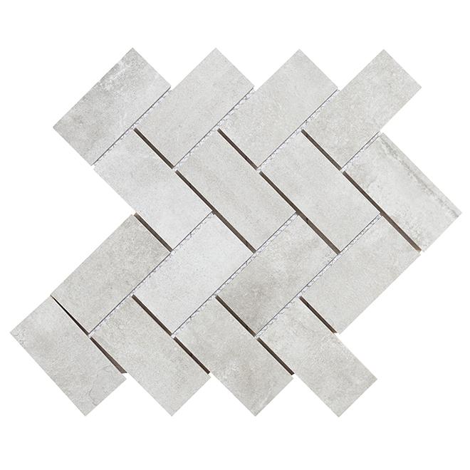 Procelain Mosaic - Vidoque - Grey - Box of 5
