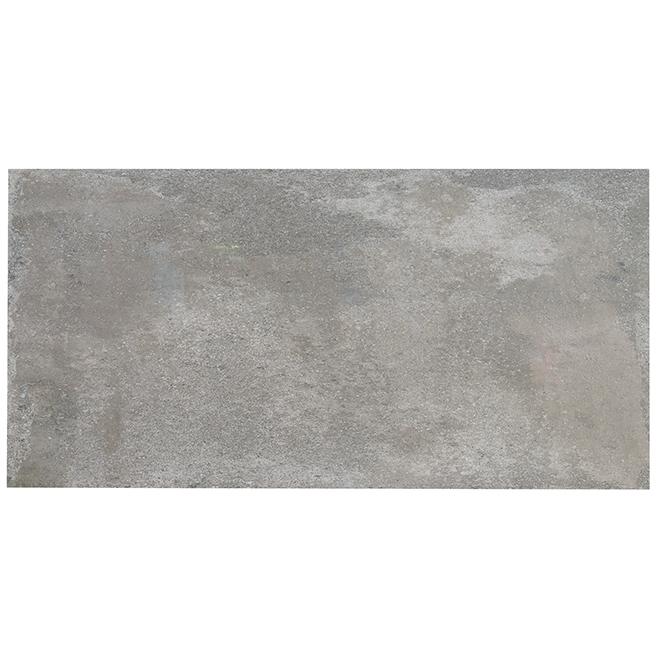 """Tuiles de porcelaine rectangulaires, 16"""" X 32"""", gris, 3/bte"""
