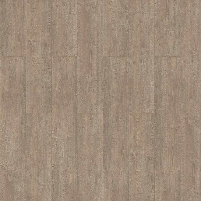 Plancher stratifié Napoli de Mono Serra, fibres haute densité AC4/E1, fini texturé beige et gris, système Megaloc