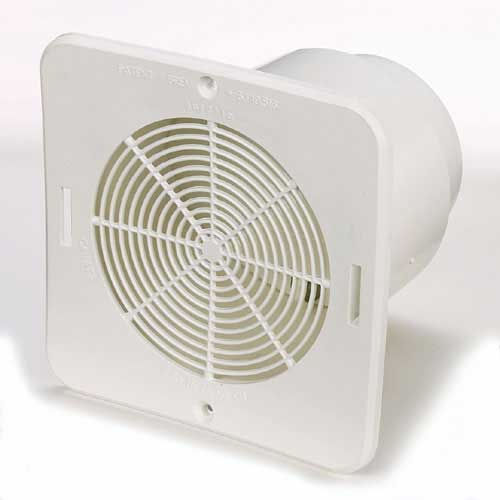 "Duraflo Bathroom Soffit Exhaust Vent -  6 3/4"" - White"