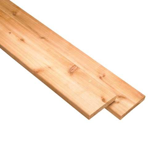 Cedar D4S - 5/4 in x 6 in x 8 ft