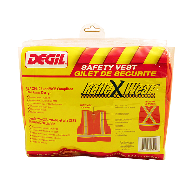 Degil RefleXWear Safety Vest - Lime Green