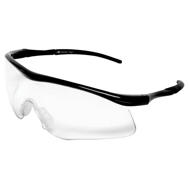 Black Frame Safety Glasses with UV protection - Black