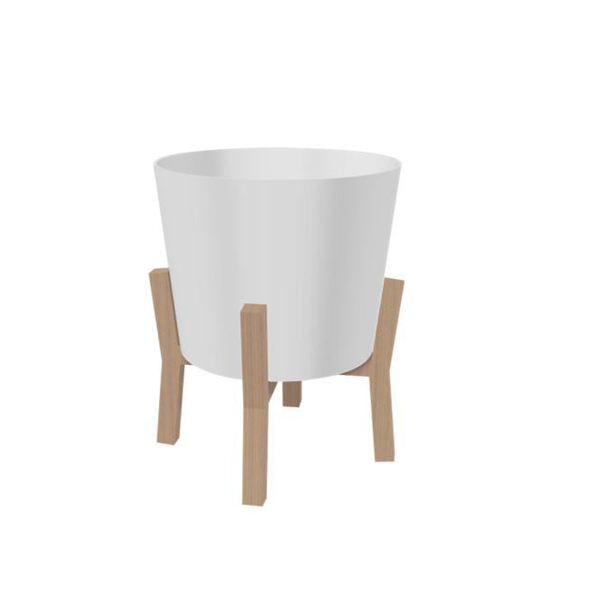"Pot en CMX contemporain Garant(MD), 16"", blanc"